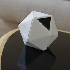 French designer Mathieu Lehanneur has designed a 20-sided wireless speaker that fits in the palm of a hand