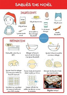 Games, books, music, entertainment, trips and activities for children - Cooking - noel Shortbread Recipes, Cookie Recipes, French Food, Learn French, Cookies Et Biscuits, Easy Cooking, Snacks, Easy Desserts, Health Tips