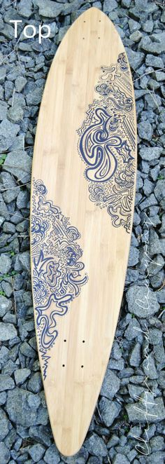 Custom Art Longboard // The Doodle by CliffsandCanyons on Etsy, $90.00