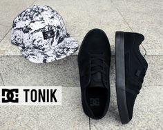 DC Skate Shoes, DC Tonik Black/Black, DC Snapback, DC Filthy Lily White Storm Print