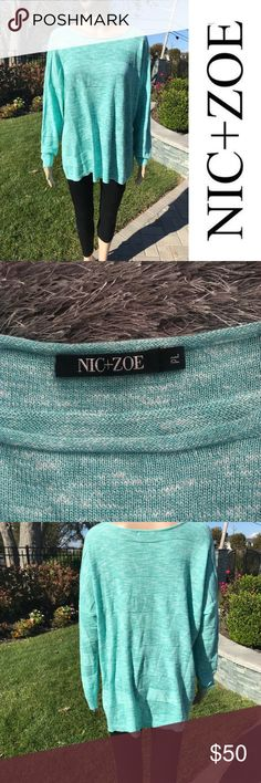 Nic + Zoe Long Sleeve striped shirt Nic + Zoe blue Long Sleeve stripes shirt  New without tags   Buy 2 items get 3rd half off , offering bundle discounts & accepting all reasonable offers NIC + ZOE Tops Tees - Long Sleeve
