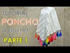 Como tejer un poncho a crochet en todos los talles. - YouTube