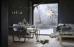 IKEA furniture and home accessories are practical, well designed and affordable. Here you can find your local IKEA website and more about the IKEA business idea. Ikea Christmas, Christmas Living Rooms, Christmas 2017, Ikea Xmas, Scandi Christmas, Interior Exterior, Interior Design, Hacks Ikea, Casa Loft