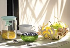 Mediterraneo fruit bowl and Gianni kitchen container from Sweet Brakfast collection from Alessi on FormAdore.com
