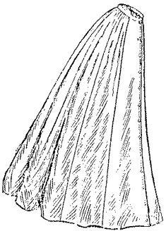 Past Patterns: #2957: Ladies' Nine-Gored Skirt: Circa 1909