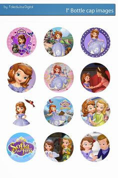 Folie du Jour Bottle Cap Images: Sofia the first Free digital bottle cap images