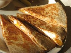 Barbecue Chicken-Cheddar Quesadillas - My recipe as MarthaStewartWanabe at www.food.com