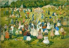 May Day, Central Park - Maurice Prendergast, 1901