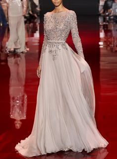 Elie Saab Fall 2013 Couture - I love the silhouette created from this dress, it's so elegant and feminine. #couture
