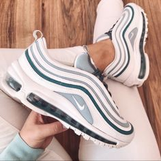 Nike air max 97 New with box no lid Sz 7 is without box Sz is whit box Nike Shoes Sneakers Cute Sneakers, Sneakers Mode, Sneakers Fashion, Fashion Shoes, Jordan Shoes Girls, Girls Shoes, Ladies Shoes, Shoes Women, Nike Shoes Air Force