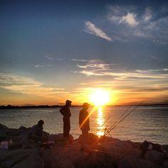 Catching the perfect sunset. Darsena di Rimini. #adrimob - Instagram by @Budget Traveller