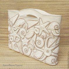 Τσάντα με θαλάσσιο αέρα / Βήμα προς βήμα | Πλέκω και Δύο βελόνες - Σχέδια υφασμάτων