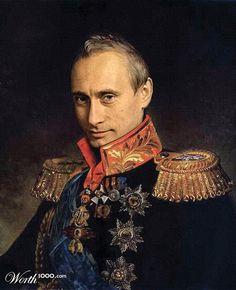 Vladimir Putin portrait  // Worth1000 by Mandrak