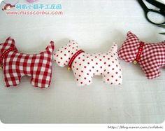 Blog de Goanna: Patrón perritos de tela