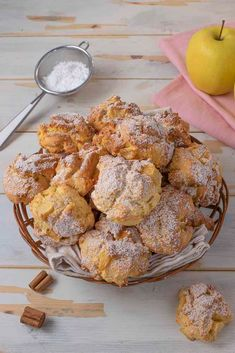 Apple Cookies, Biscotti Cookies, Scones, Cooking Recipes, Healthy Recipes, Apple Recipes, Ricotta, Bon Appetit, Italian Recipes