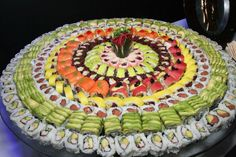 Beautiful Sushi Rolls - Bar Mitzvah Catering at Space NJ {Chris Herder Photography} - mazelmoments.com