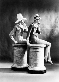 FRANK HORVAT London, For British Vogue (2 models sitting), 1959