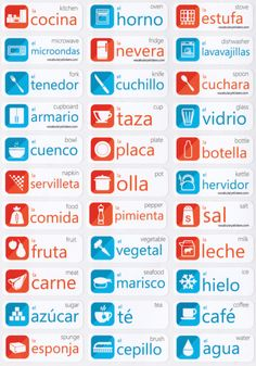 Spanish Learning Stickers