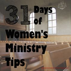 31 Women's Ministry Tips