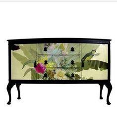 Stunning Upcycled Sideboard TV unit with Amazing Timorous Beasties design | eBay
