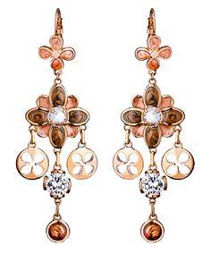 Lauren G. Adams Beautiful Blossom Pave Chandelier Earrings