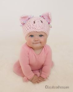 f4bf87e81b1 Autumn Winter Toddler Infant Knitted Baby Hat Adorable Rabbit Long Ear Hat  in 2019