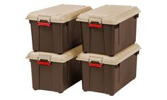 All Goods Set of 4-21.8 Gal storage containers  $96.99