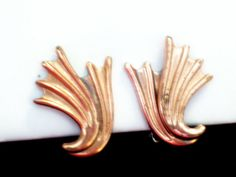 Modernist Renoir Earrings Vintage RENOIR Copper by TheCopperCat