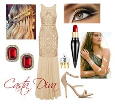 Casta Diva by operawithpearls on Polyvore featuring mode, Badgley Mischka, Kenneth Jay Lane and Christian Louboutin