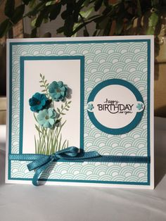 Stampin' Up - #My Digital Studio  #Stamps and finished with real embellishments! Love that stamp set and love the design!