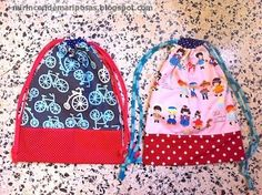 mi rincón de mariposas: Tutorial: bolsa de tela -vuelta al cole- String Bag, Fabric Bags, Pretty Dolls, Sewing Accessories, Diy Projects To Try, Purses And Bags, Sewing Crafts, Gym Bag, Baby Kids