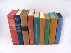 Colorful Pastels Vintage Books Decorative by FineLineTreasures, $49.00
