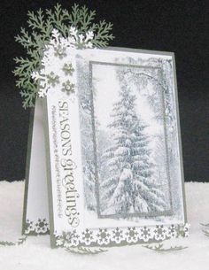 Glistening Trees by pam124 - Cards and Paper Crafts at Splitcoaststampers