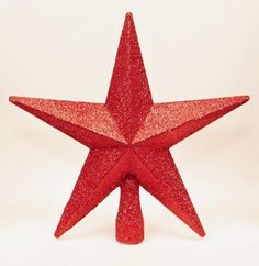 Red Christmas Tree Top Star Topper Glitter finish 20cm >>> For more information, visit image link.