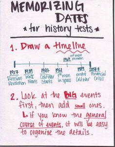 Simple #schoolteacherhack!  Memorizing dates for history tests.