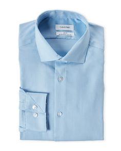 Calvin Klein French Blue Slim Fit Dress Shirt