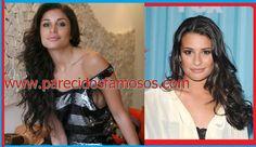 Parecidos con famosos: Brasileña ex BBB Maria y Lea Michele