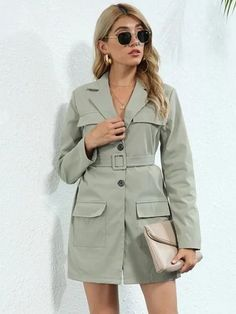 #Fall2021collection #Falloutfits #Fallcollection #FallWear #Autumnwear #fashionintrend #womenfashion #Expressyourself #autumncollection #auntumndress $74.00 $37.38 Green Blazer, Green Coat, Fashion Sale, Fashion Outfits, Stylish Winter Outfits, Cute Fall Outfits, Brown Jumpsuits, Black Ripped Jeans, Winter Jackets Women