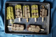 banana-nutella popsicles, varied pistachio coatings by smitten, via Flickr