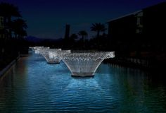 Bruce Munro light installations on Scottsdale canal - Google Search