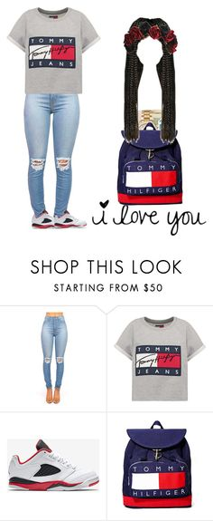"""""""Its ight/ I love you"""" by chocolate-drop29 ❤ liked on Polyvore featuring Hilfiger and NIKE"""