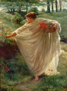 The Athenaeum - Wild Blossoms (Sir Edward John Poynter - )