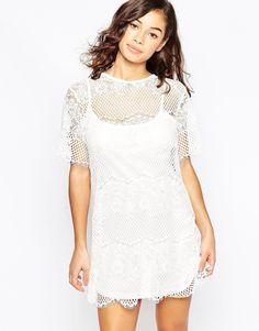 Mela Loves London Lace Shift Dress