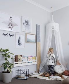 """141 Likes, 6 Comments - Willow & Wood (@willowandwood) on Instagram: """"Still crushing on this gorgeous room by @misskyreeloves that features our Mini Bookworm.…"""""""