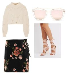 """Untitled #1652"" by alessiaaaaaaaaa ❤ liked on Polyvore featuring Quay, Charlotte Russe, Topshop and Isabel Marant"