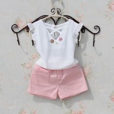 Kids blouse summer 2018 t-shirts for teenage girls large white chiffon blouses for girls flower design Tops fashion clothes for girls - Fashion - [post_tags Dresses Kids Girl, Kids Outfits Girls, Shirts For Girls, Girls Fashion Clothes, Baby Girl Fashion, Kids Clothing, Top Fashion, Kids Fashion, Baby Outfits
