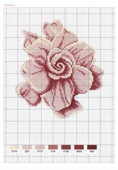 Little Violet Rose [Pattern / Chart] [Spring - Flowers - Cross Stitch] Cross Stitch Rose, Cross Stitch Flowers, Cross Stitch Charts, Cross Stitch Designs, Cross Stitch Patterns, Cross Stitching, Cross Stitch Embroidery, Embroidery Patterns, Hand Embroidery