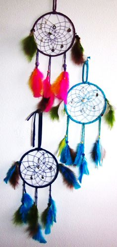 PINK AND BLUE DREAMCATCHERS!