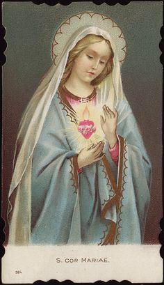 Imaculado Coração de Maria (holy card)
