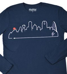 Introducing our classic Dallas skyline design for the Fall! This unisex, long sleeve tee is the best way to rep your city when the days get chilly.  #OutlineTheSky #RepYourCity #CoverTheCountry #DallasSkyline